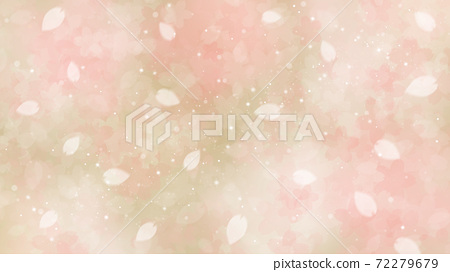 Cherry blossom background illustration petal cherry spring illustration material 72279679
