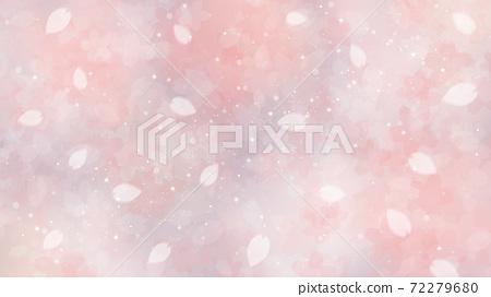 Cherry blossom background illustration petal cherry spring illustration material 72279680