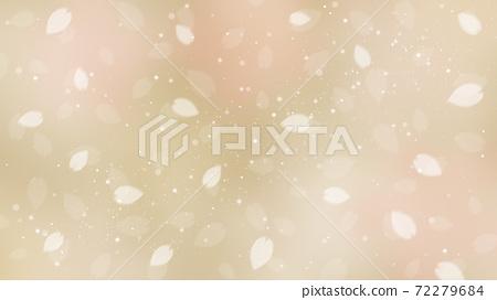 Cherry blossom background illustration petal cherry spring illustration material 72279684