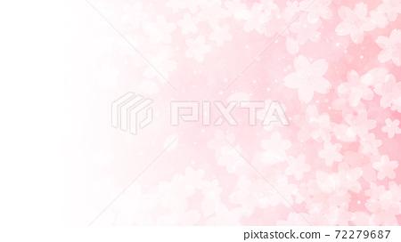 Cherry blossom background illustration petal cherry spring illustration material 72279687