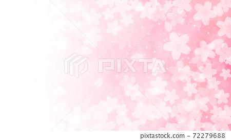 Cherry blossom background illustration petal cherry spring illustration material 72279688