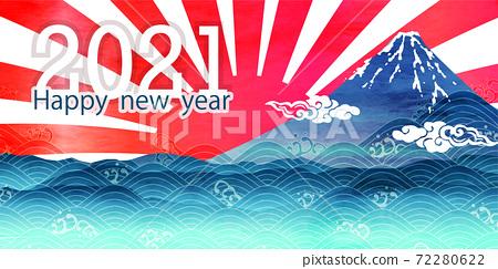 新年富士山日本圖案背景 72280622