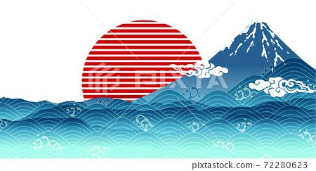 New Year Mt. Fuji Japanese pattern background 72280623