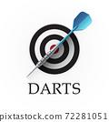 Darts game emblem 72281051