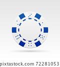 White casino chip 72281053