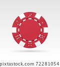 Red casino chip 72281054