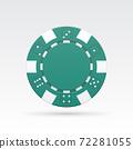 Green casino chip 72281055