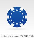 Blue casino chip 72281056