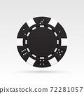 Black casino chip 72281057