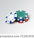 Stack of gambling casino chips 72281058