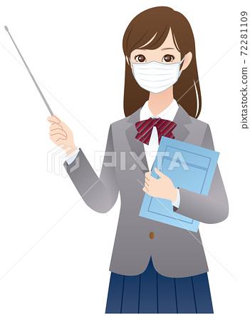戴著面具的女學生的解釋 72281109