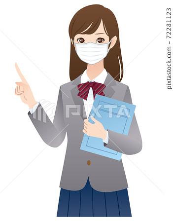 戴著面具的女學生的解釋 72281123