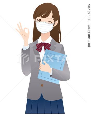 戴著面具的女學生的解釋 72281203