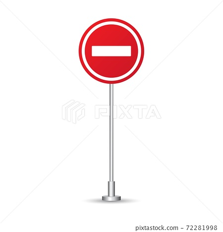 Do not enter sign vector illustration isolated on white background 72281998