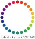Dot-shaped 24 color wheel 72296349