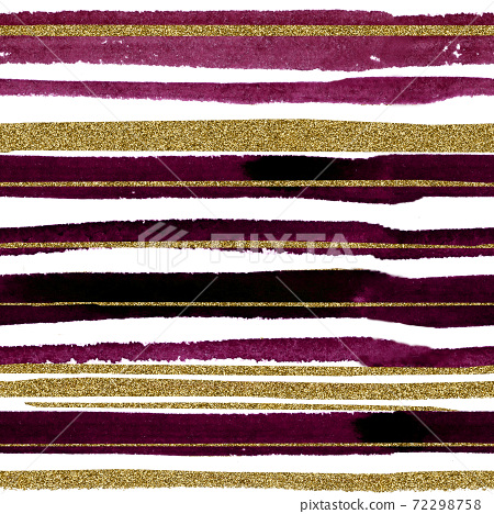 Pattern watercolor stripes in dark red color with 72298758