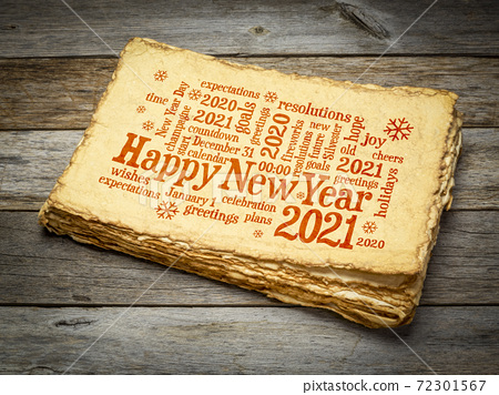Happy New Year 2021 word cloud 72301567