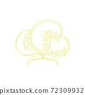頭飾線描illustration_30 72309932