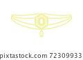 頭飾線描圖插圖_29 72309933