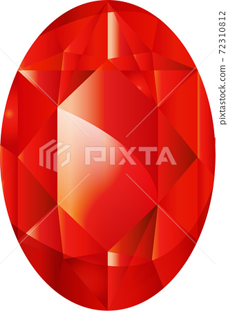 Illustration of a simple ruby jewel 72310812