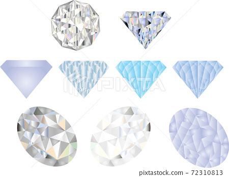 Beautiful diamond illustration set 72310813