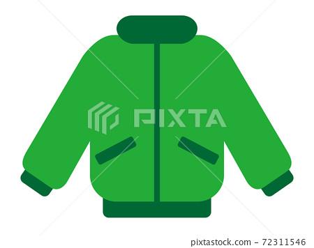 녹색 방한복 간단한 아이콘 72311546