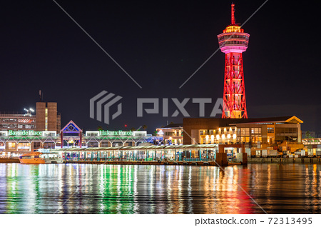 후쿠오카시의 거리 · 풍경 리뉴얼 후 하카타 포트 타워와 베이 사이드 플레이스 72313495