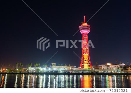 후쿠오카시의 거리 · 풍경 리뉴얼 후 하카타 포트 타워와 베이 사이드 플레이스 72313521