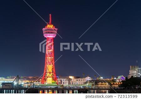 후쿠오카시의 거리 · 풍경 리뉴얼 후 하카타 포트 타워와 베이 사이드 플레이스 72313599