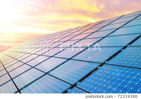 태양광 솔라 패널과 친환경 에너지 72314380