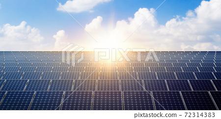 太陽能電池板和環保能源 72314383