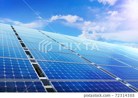 太陽能電池板和環保能源 72314388