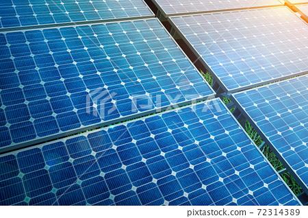 太陽能電池板和環保能源 72314389