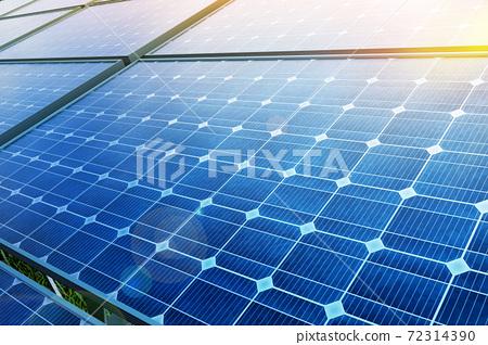 태양광 솔라 패널과 친환경 에너지 72314390