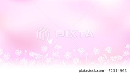 꽃과 빛 노망 배경 일러스트 소재 72314968