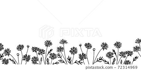 꽃의 일러스트에 의한 배경 소재 (마가렛) 72314969