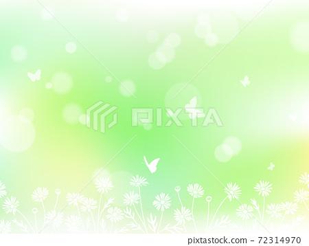 꽃과 나비와 빛 노망 배경 일러스트 소재 72314970