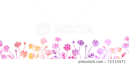수채화 텍스처 꽃 의한 배경 일러스트 소재 (마가렛) 72314971