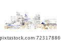 Cityscape, cityscape with buildings 72317886