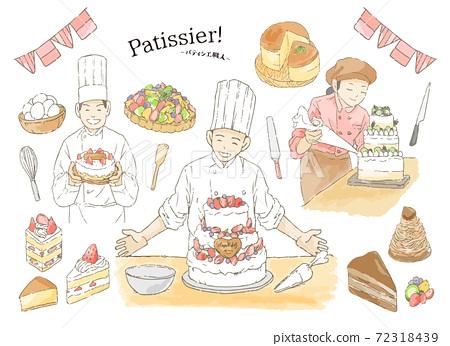 糕點工匠的插圖 72318439