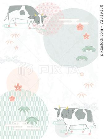소와 일본식 디자인 72319130