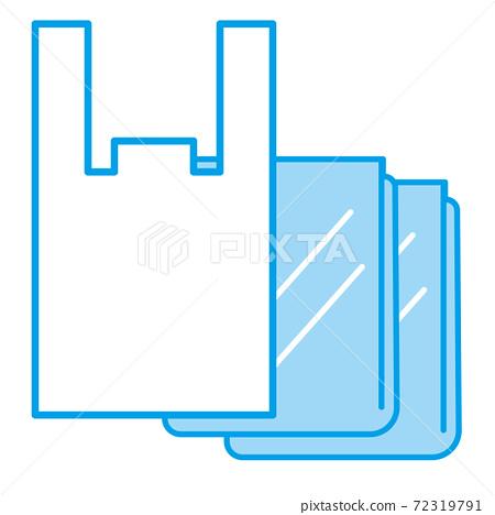 Simple icon of plastic bag 72319791