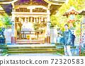 享受在江之島觀光的人們(有田神社,ji島神社)[彩色鉛筆] 72320583