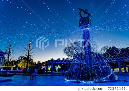 기후현 가이즈시 기소 삼강 공원 센터의 일루미네이션 이벤트 겨울 빛 이야기 72321141