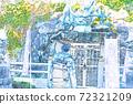 在江之島(琉球)觀光的男人[彩色鉛筆] 72321209