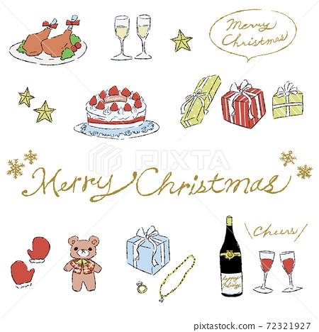 粗糙和成人可愛的聖誕節插圖 72321927