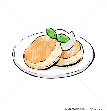 手寫粗略的草圖_蓬鬆的煎餅 72323772