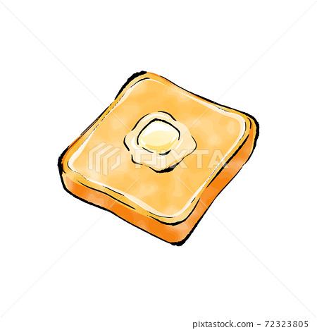 黃油手寫的草繪_吐司 72323805