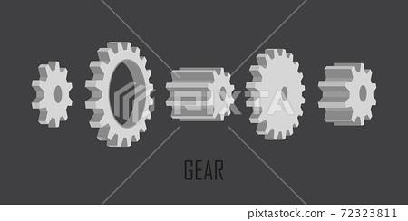 Gears wheels set vector illustration isolated 72323811