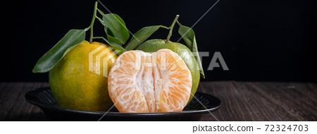 橘子 農業 木板 蜜柑 Tangerine wooden background 蜜柑 みかん 72324703